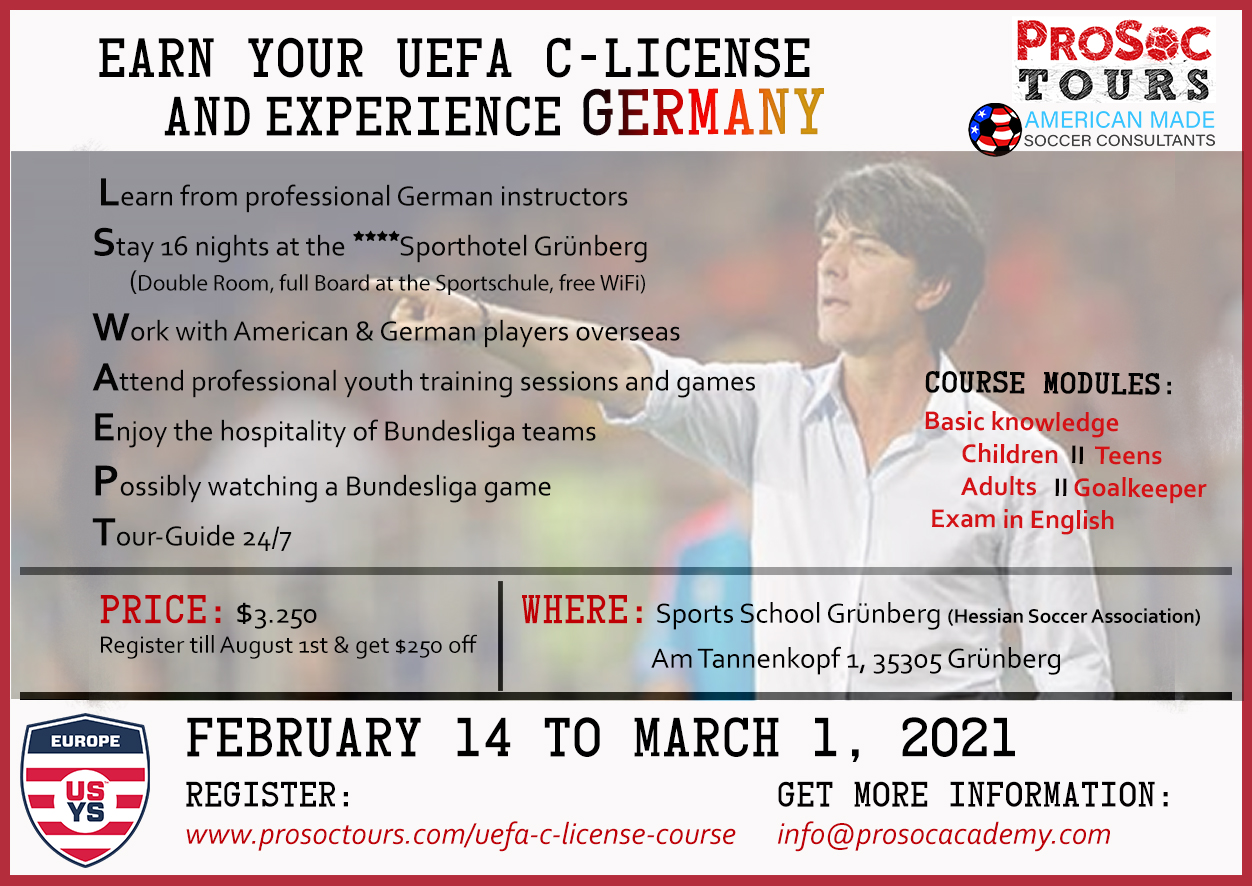 UEFA C License Course Now Available For 2021